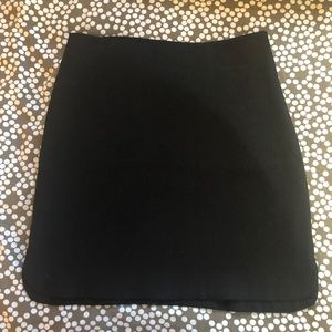 LOFT Ann Taylor Short Black A-Line Skirt